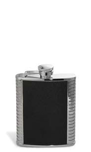 Silver & Black Flask - 6oz.
