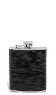 Leather Zig-Zag Flask