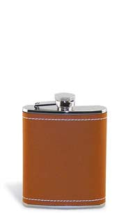 Stitched Leather Flask
