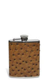 Ostrich Leather Flask - flask