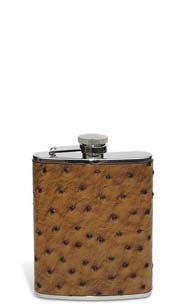 Ostrich Leather Flask