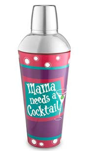 Mama Needs A Cocktail Glass Shaker