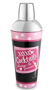 XOXO Cocktails Glass Shaker