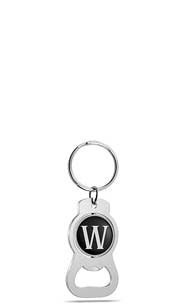 Monogram 'W' Keychain Bottle Opener