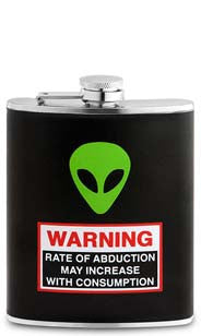 Alien Abduction Flask