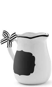 Ceramic Chalkboard Serving Pitcher