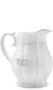 Crown Ceramic Serving Pitcher