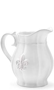 Fleur De Lis Ceramic Serving Pitcher