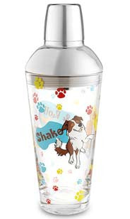 Shake, Wag & Roll Glass Shaker