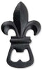 Fleur De Lis Bottle Opener - Black - beer bottle opener