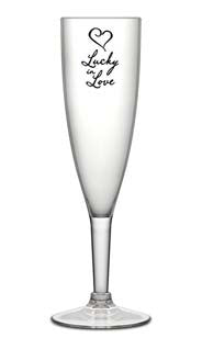 Acrylic Lucky In Love Champagne Glass