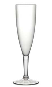 Fluted Acrylic Champagne Glass