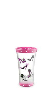 Pink Fashion Heels Hand-Decorated Shot Glass