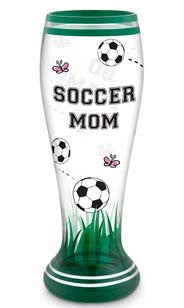 Soccer Mom Hand Decorated Pilsner Glass