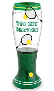 You Got Served Hand Decorated Pilsner Glass
