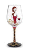Cougar Her Wine Hand Decorated Wine Glass