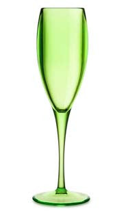 Colorful Acrylic Champagne Glass Green