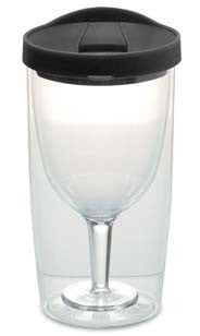 Acrylic Wine Sippy Cup Black
