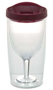 Acrylic Wine Sippy Cup Burgundy