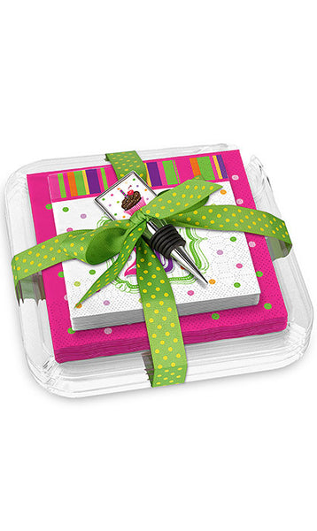 Happy Birthday Napkins & Plates Gift Set