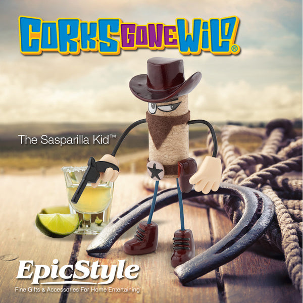 Corks Gone Wild® Collectable - The Sasparilla Kid™