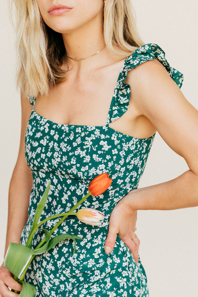 Piper Jumpsuit - Green Floral