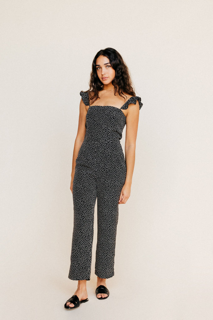Piper Jumpsuit - Black Floral