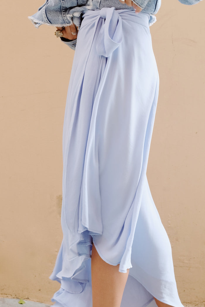 Genevieve Skirt - Sky Blue