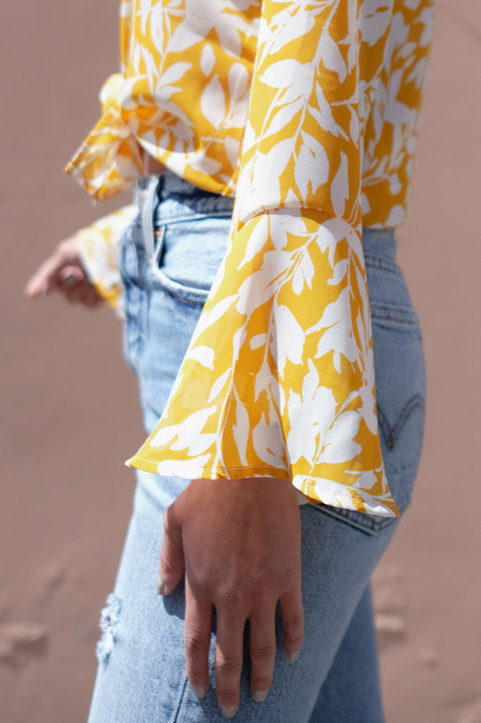 Mila Blouse - Yellow Lei