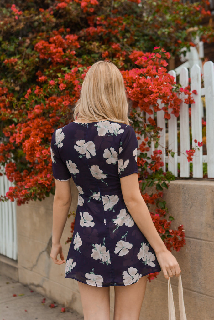 Olivia Mini Dress - Paris Floral