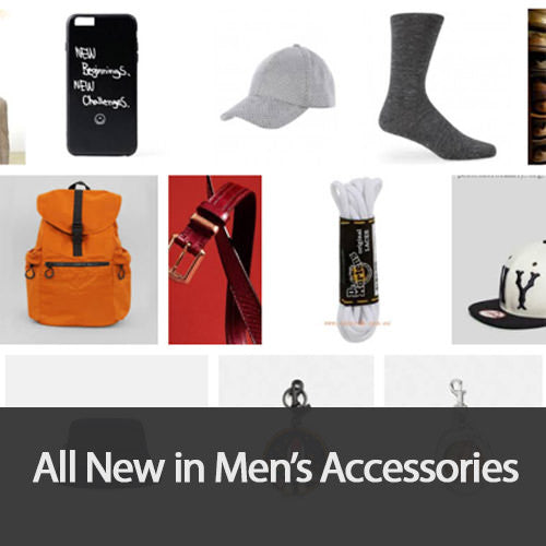 All new in men's accessories