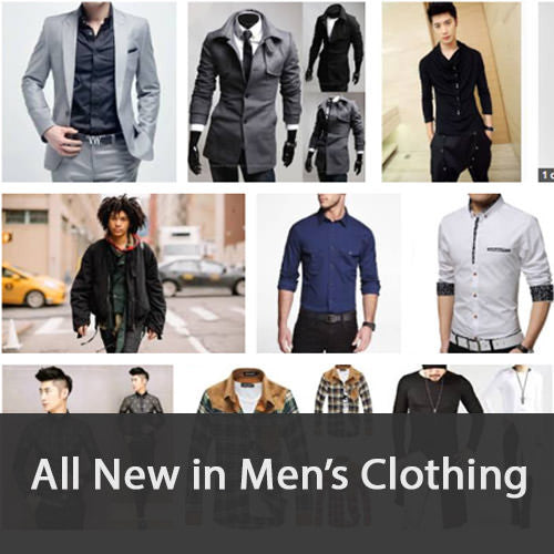 All new in men's clothing