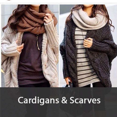 Women's Cardigans and Scarves