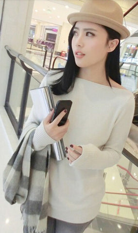 Wide Collar Women Cashmere Sweater