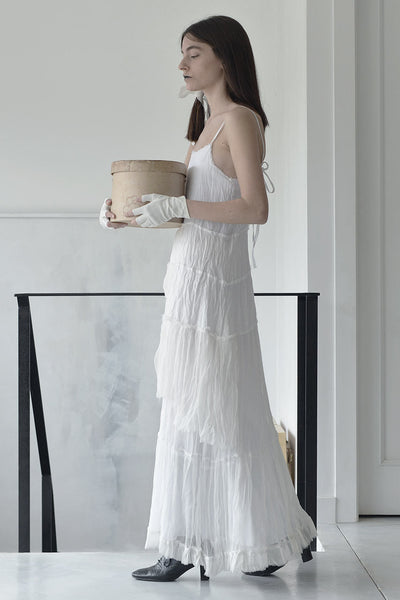 MAXI TIERS DRESS - WHITE