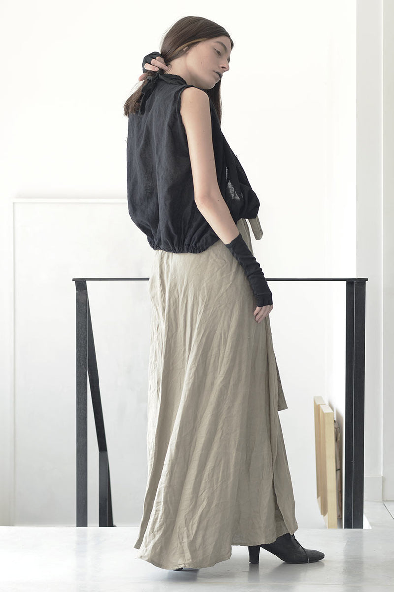 wrap around linen maxi skirt  | maxi linen nude skirt online | evening skirts | Long elegant skirts | Long skirts trend | Maxi summer 2017 skirts | Summer skirts sale | Skirts Online Shopping | Free Worldwide Shipping | Israeli clothing brands | Israeli Fashion Designers | Shopping Mall Tel Aviv | Yafo Tel Aviv Fashion | Israel Online Shopping | Flea Market Jaffa Fashion Studio | Shopping Mall Tel Aviv | TLV Fashion Mall | Yafo Tel Aviv Fashion - natural - nude - 4