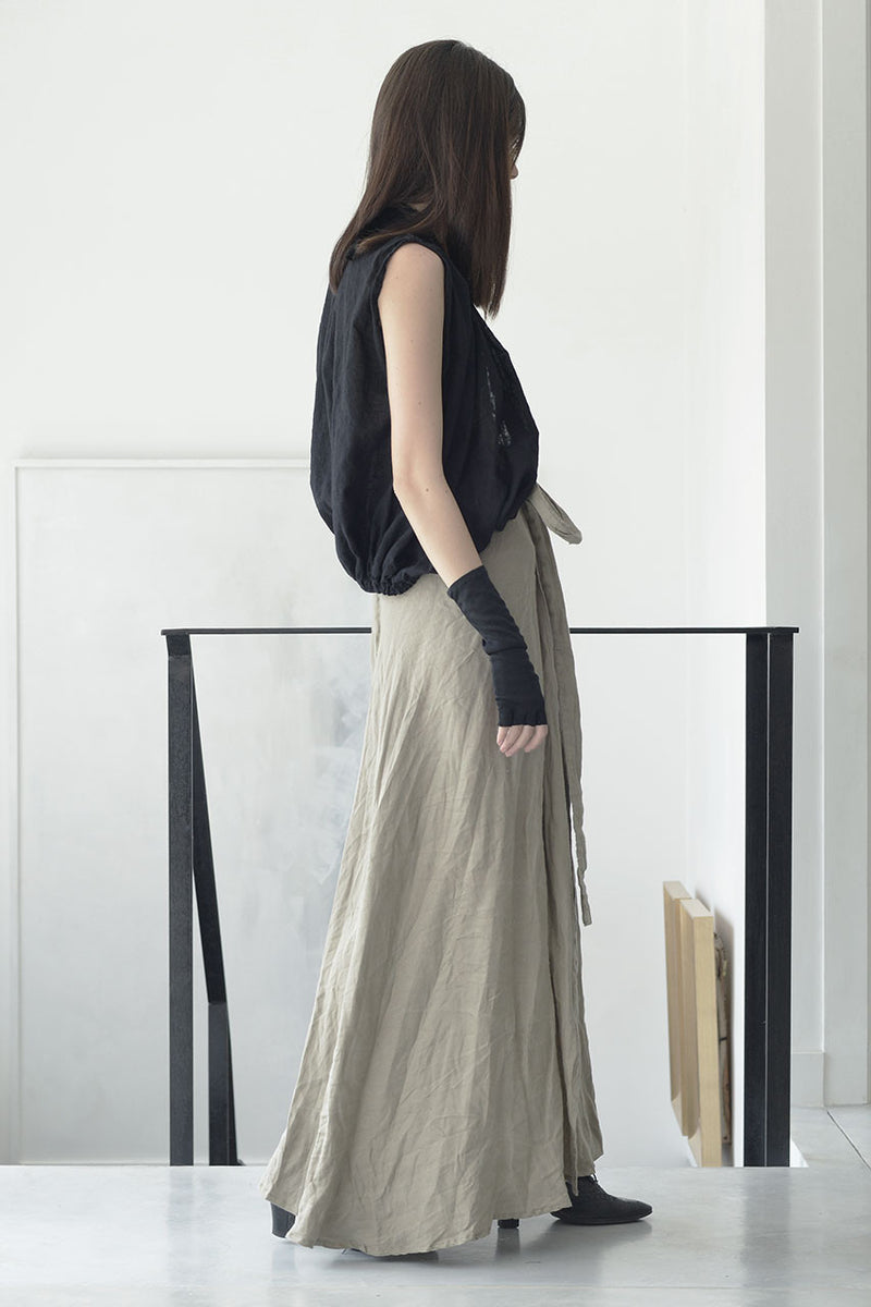 wrap around linen maxi skirt  | maxi linen nude skirt online | evening skirts | Long elegant skirts | Long skirts trend | Maxi summer 2017 skirts | Summer skirts sale | Skirts Online Shopping | Free Worldwide Shipping | Israeli clothing brands | Israeli Fashion Designers | Shopping Mall Tel Aviv | Yafo Tel Aviv Fashion | Israel Online Shopping | Flea Market Jaffa Fashion Studio | Shopping Mall Tel Aviv | TLV Fashion Mall | Yafo Tel Aviv Fashion - natural - nude - 6