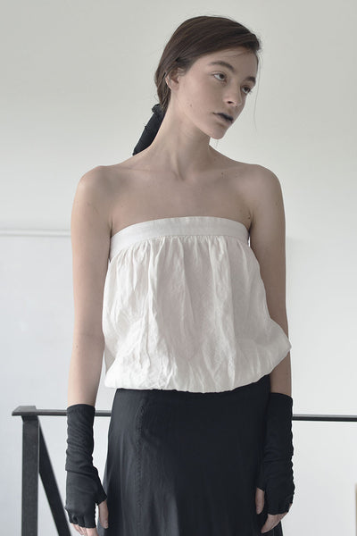 STRAPLESS SHIRT - WHITE