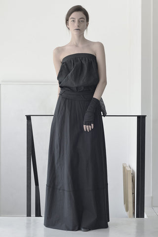 STRAPLESS SHIRT - BLACK