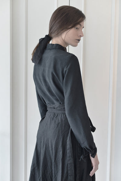 collared woman shirt | long sleeve black linen shirt | black button down shirt | business shirts | womens formal blouses | formal blouses | linen shirts online | linen clothing | linen clothing |  Israeli clothing brands | Israeli designers | Tel Aviv shopping -7