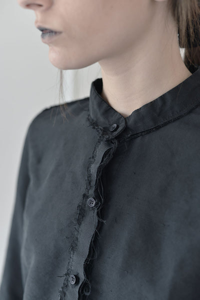 collared woman shirt | long sleeve black linen shirt | black button down shirt | business shirts | womens formal blouses | formal blouses | linen shirts online | linen clothing | linen clothing |  Israeli clothing brands | Israeli designers | Tel Aviv shopping -8