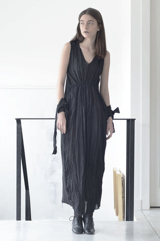 MAXI SLEEVELESS COLLOQIAL DRESS - BLACK