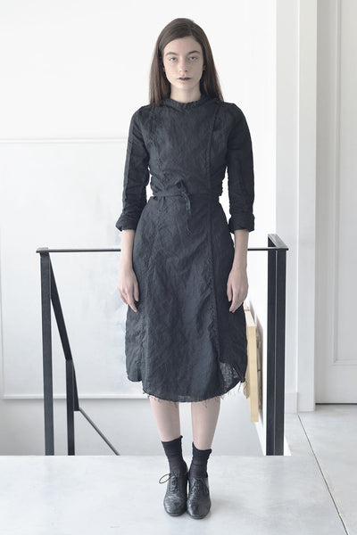 Tailored Dresses | Midi Linen Dress | Workwear Dress| Ladies Work Dresses | Designer Dresses Online | Israeli Clothing Brands | Israeli Fashion Designers | Shopping Mall Tel Aviv | Yafo Tel Aviv Fashion | Israel Online Shopping | Flea Market Jaffa Fashion Studio -  black - 1