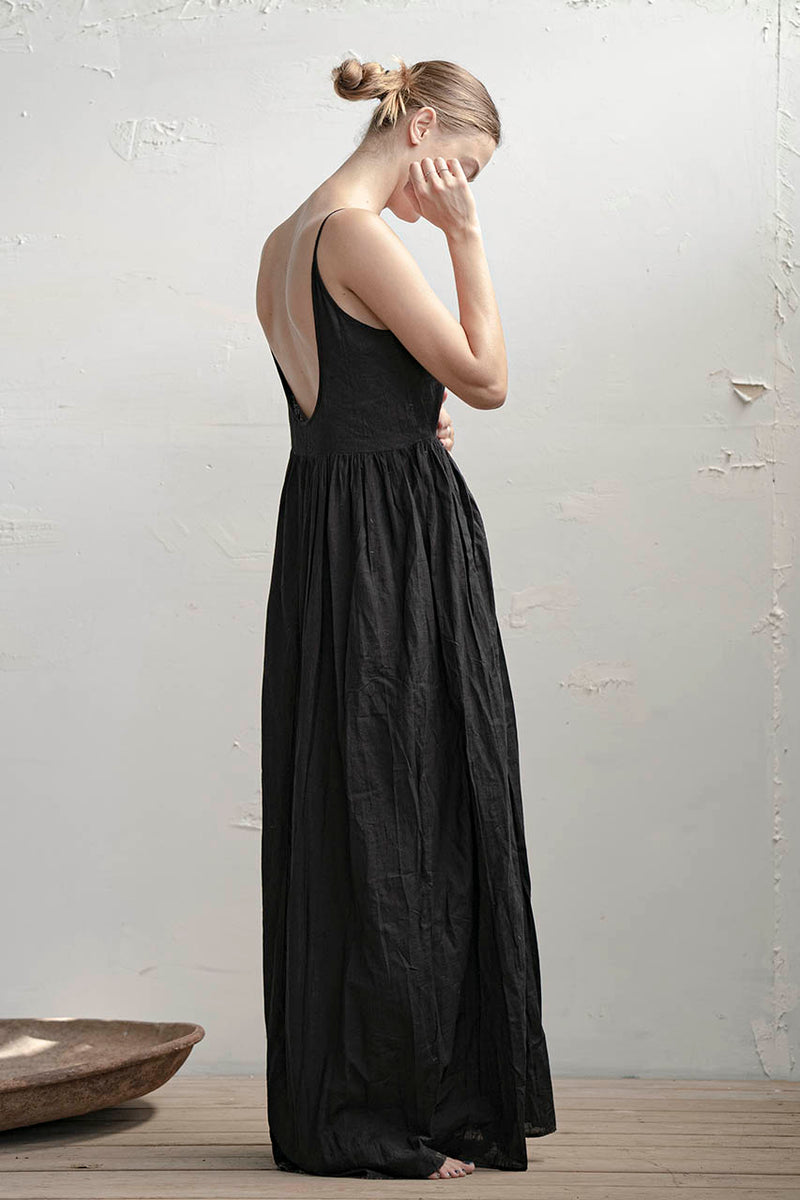 Hagar Dress - Natural / Black