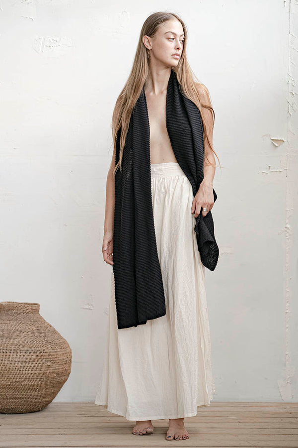 RIVKA SKIRT - NATURAL / BLACK