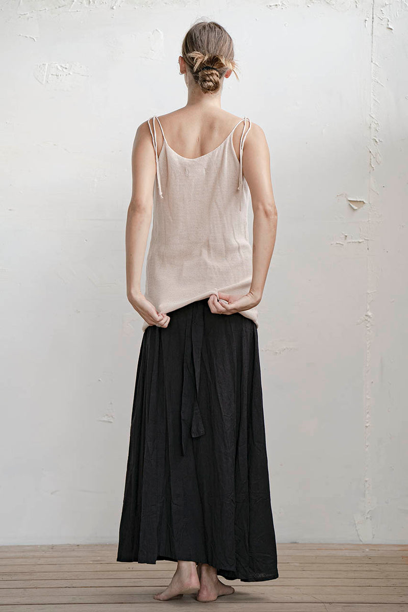 KNITTED KNOTS TANK - NUDE / STONE / BLACK
