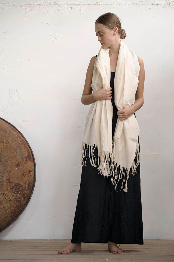 Jericho Shawl - Natural / Black