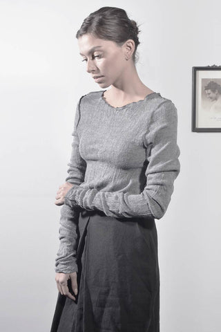 fluffy babylock long sleeve shirt - grey