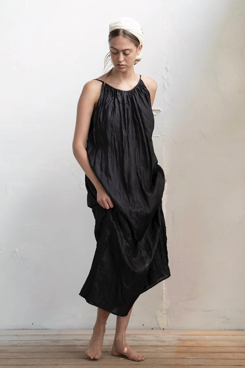 Avishag Silk Dress - Natural / Black