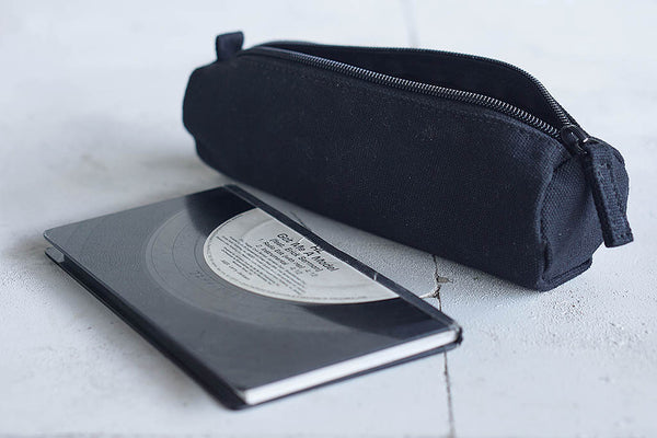 Canvas Pencil Case - White / Black